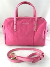 VERA BRADLEY Bubblegum Pink Nylon Canvas Crossbody Duffle Handbag Purse