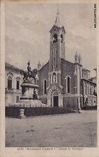 # ASTI: MONUMENTO UMBERTO I - CHIESA S. GIUSEPPE  1934