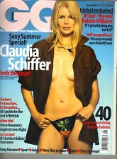 CLAUDIA SCHIFFER UK GQ Magazine 8/01 ROBBIE WILLIAMS
