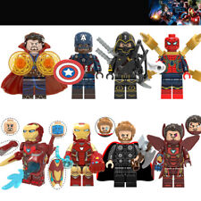 8PCS Marvel Avengers DC Super Hero Mini Figure Set Fits LEGO AU SELLER
