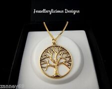 Large Gold Tree Of Life Pendant Necklace 50cm Lovely Gift