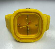 E SS.com Mid Century Modern Style Yellow Silicon Watch Untested