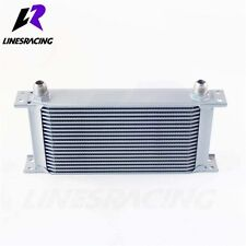 Universal 19 Row -AN10 Aluminum Engine Transmission 248mm Oil Cooler Kit Silver