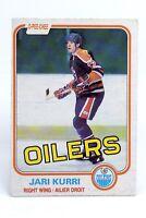 1981-82 Jari Kurri #107 Edmonton Oilers Right Wing O-Pee-Chee Hockey Card H447