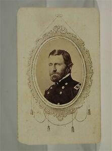 1860s CIVIL WAR UNION GENERAL ULYSSES S GRANT CDV PHOTO BY MATHEW BRADY