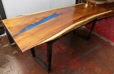Dining Table Style Industrial Wooden Suar and Resin Legs Iron CMS 210x8