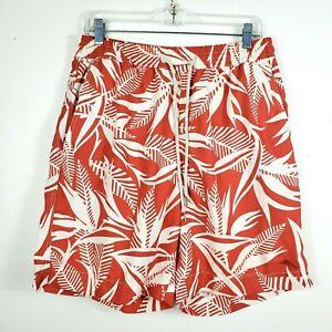 Tommy Bahama Mens Swim Trunks Drawstring Shorts Mesh Lined Tropical Orange Sz M