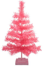 18'' Pink Barbie Tinsel Tree Christmas Holiday Tree 1.5FT Table-Top XMASS Decor