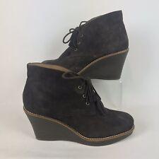 SCHOLL Size UK 6 Brown Suede Wedge Desert Boots