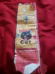 Rare Vintage Black Cat Fireworks Firecrackers Label Original