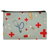 Nurse Doctor Pattern Healthcare Makeup Cosmetic Bag Organizer Pouch