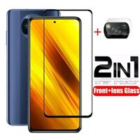 2IN1 For Xiaomi POCO X3 NFC Tempered Glass Screen Protector & Camera Lens Film
