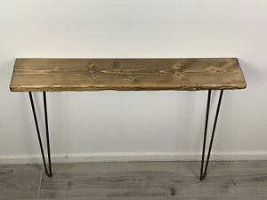 Industrial Rustic Solid Wood Handmade Hairpin Legs Console Table Hallway Colours