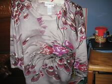 WOMENS SWEATER SIZE XLARGE PXL PETITES CATHY DANIELS RETAIL $46.00 NEW WITH TAGS