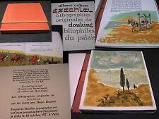 ALBERT COHEN - EZÉCHIEL - LITHOGRAPHIES PAR GEORGES DOUKING - 1971  !  !  !
