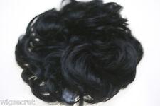 Ash Black Brunette Short Wavy Scrunchie Accessories Hair Pieces