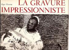 Gravure impressionniste PASSERON French engravers 1974