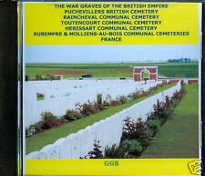 WAR GRAVES OF PUCHEVILLERS BRITISH + OTHERS FRANCE CD