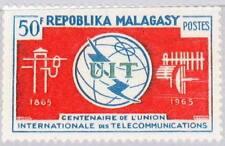 MADAGASCAR MALAGASY 1965 534 367 100 Ann ITU Fernmeldeunion Emblem Communication