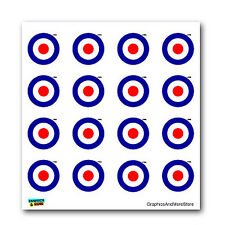 Royal Air Force RAF Insignia Roundel - SET of 16 - Window Stickers