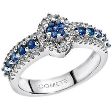 """Anello donna """" COMETE GIOIELLI ANB1496 """"  Diamanti e Zaffiri Blu"""