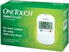 OneTouch Select Simple Glucometer ( Box of 10 Test Strips Free)FREE SHIPPING
