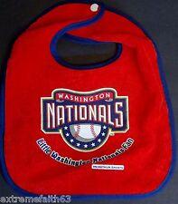 Washington Nationals Little Fan Baby Bib New red McArthur Soft Terry snap h1-bg1