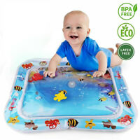 Tummy Time Inflatable Infants Baby Water Mat Fun Activity Large 66*50 Sea Toys^