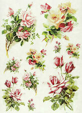 Rice Paper for Decoupage, Scrapbooking Sheets Rose Bouquets