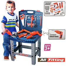 69 PIECE KIDS CHILDRENS TOOLS DRILL PLAY TOY WORK BENCH DIY CREATIVE ROLE PLAY N