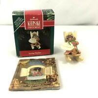 Hallmark Keepsake Ornament Loving Stitches Tender Touches Collection 1991 Mouse