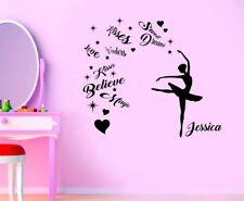 Dance Ballerina Girls Magic Wall Quote Wall Art Sticker/Decal