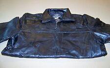Brand New Mens Leather Bomber Jacket (Black XL)