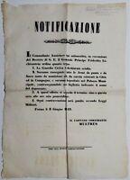 Bando Repubblica Romana gli austriaci ordinano di rassegnare le armi giugno 1849