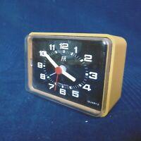 Alarm Clock Orange Antique 1950 60 Brand Fr Made IN Rfa Germany Vintage