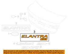 HYUNDAI OEM 17-18 Elantra Trunk Lid-Emblem Badge Nameplate 86315F2200