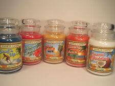 "Yankee Candle, (5) 22 oz. Jars ""Aloha Collection"" Limited Edition"