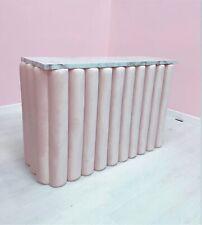 More details for bespoke salon shop reception desk padded in soft plush velvet