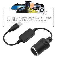 USB Cavo Adattatore per Convertitore da Presa per Accendisigari 12V Auto Nero
