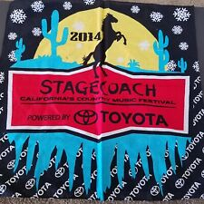 Stagecoach California Country Music Festival Toyota Bandanas 5 pieces, pre-owned