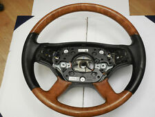 MERCEDES S550 W221 CL550 W216 HEATED WOOD LEATHER STEERING WHEEL PADDLE SHIFTERS