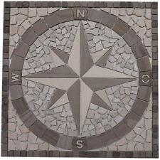 Rosoni Rosone Mosaico Marmo 60x60 cm Rosa di Venti su rete interni esterni 031