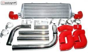 Vauxhall Astra 1.9 CDTI Large Capacity Front Intercooler Kit 04 09 Red Silicone