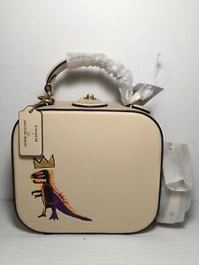 NWT 6897 Coach X Jean-Michel Basquiat Square Bag, MSRP $795
