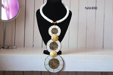 Tiered Neckpiece. Gift for Her African Beaded Necklace. Tribal Fashion Jewelry.