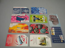Stock 10 phonecards Telecom all different used