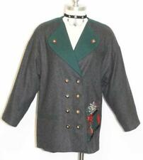 BLACK ~ WOOL Women German Designer ALPINE BAVARIAN Winter Dress Jacket 38 12 M