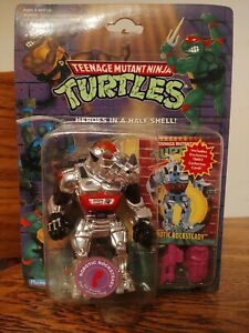 TMNT 1993 ROBOTIC ROCKSTEADY MOC PUNCHED! (PURPLE WEAPONS VARIANT)