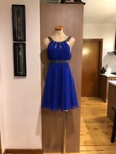 Forever New Designer Ladies Royal Blue Silk Dress Cocktail Wedding Event Size 10