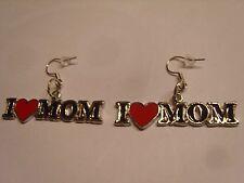 """Ohrring mit """" I love Mom """" mit rotem Herz Muttertag aus Email 3339"""